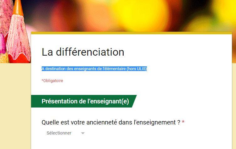 Différenciation